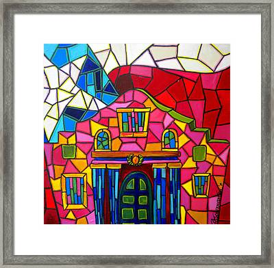Alamo Mosaic Two Framed Print by Patti Schermerhorn