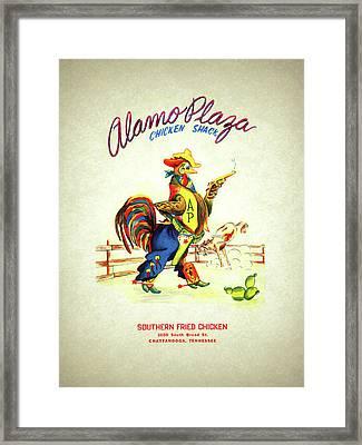Alamo Plaza Tennessee 1950s Framed Print by Mark Rogan