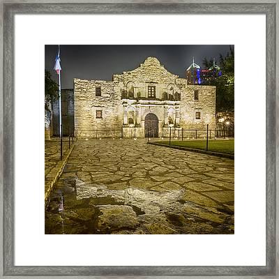 Alamo Reflection Framed Print by Stephen Stookey