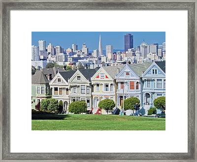 Framed Print featuring the photograph Alamo Square by Matthew Bamberg