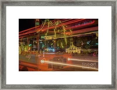 Alamo Via Streetcar Framed Print