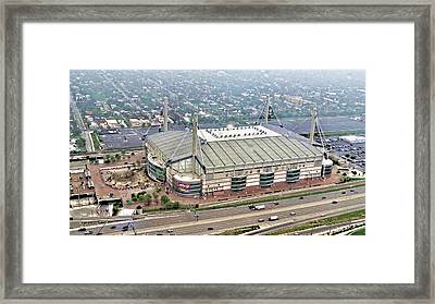 Framed Print featuring the digital art Alamodome - San Antonio, Texas by Wendy J St Christopher