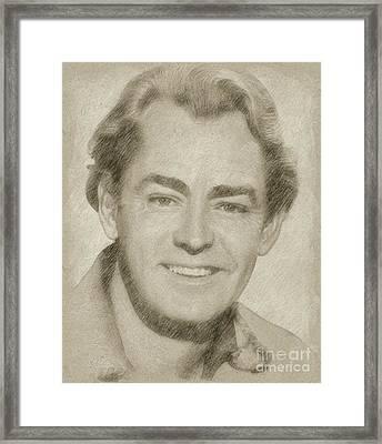 Alan Ladd Vintage Hollywood Actor Framed Print by Frank Falcon