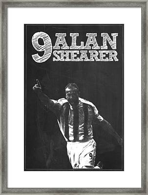 Alan Shearer Framed Print by Semih Yurdabak
