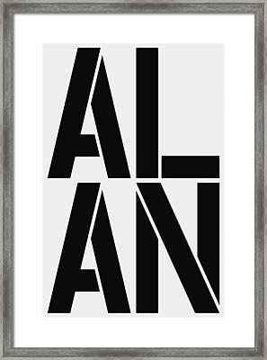 Alan Framed Print by Three Dots