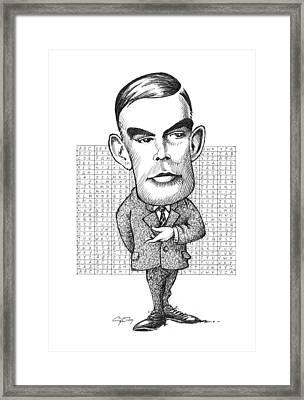 Alan Turing, British Mathematician Framed Print by Gary Brown