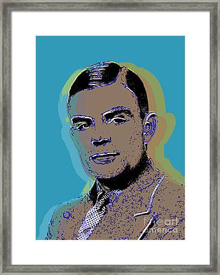 Alan Turing Pop Art Framed Print