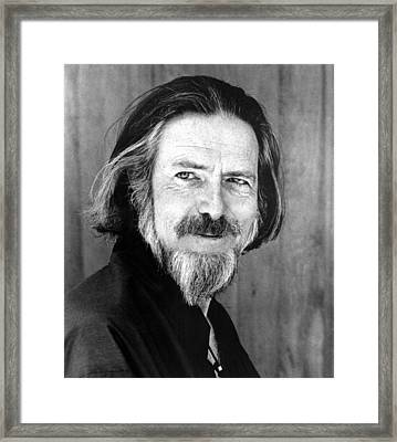 Alan Watts, Early 1970s Framed Print