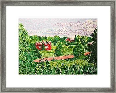 Aland Landscape Framed Print by Alan Hogan