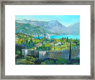 Alanya Turkey Framed Print by Lou Ann Bagnall