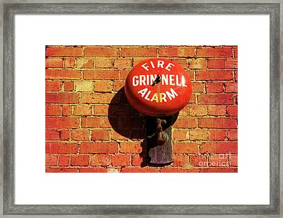 Framed Print featuring the photograph Alarm Bell by Stephen Mitchell