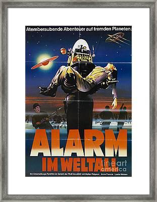 Alarm Im Weltall German Forbidden Planet Movie Poster Framed Print