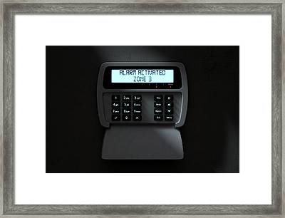 Alarm Panel Activated Framed Print by Allan Swart