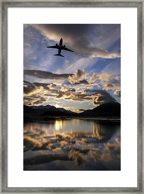 Alaska Airlines Jet Takes Framed Print by John Hyde