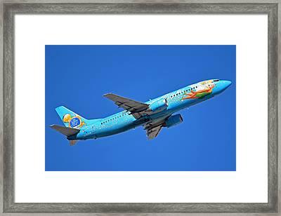 Alaska Boeing 737-490 N791as Tinker Bell Phoenix Sky Harbor January 12 2016 Framed Print by Brian Lockett
