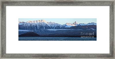 Alaska Coastal Range Panorama Framed Print by Mike Reid