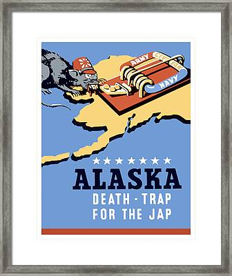 Alaska Death Trap Framed Print by War Is Hell Store