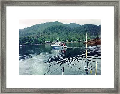 Alaska Fishing Framed Print by Judyann Matthews