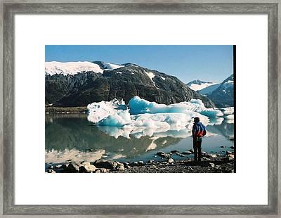 Alaska Glacier Lake Framed Print by Judyann Matthews