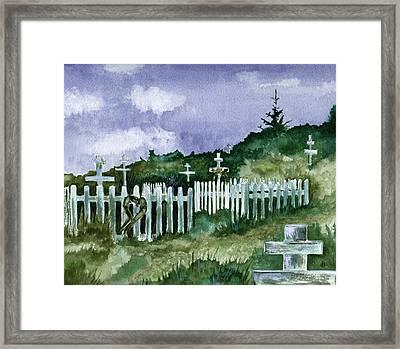 Alaska Graveyard  Framed Print by Brenda Owen
