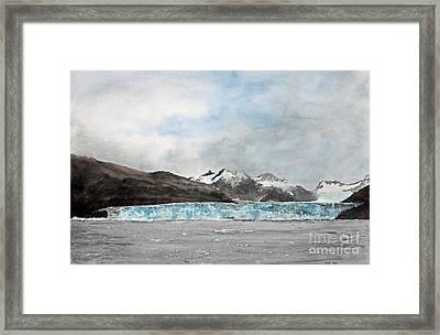 Alaska Ice Framed Print by Monte Toon