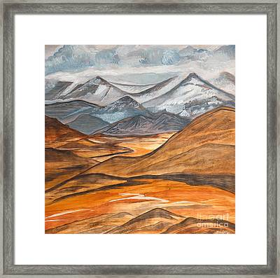 Alaska In November Framed Print by Barbara Donovan