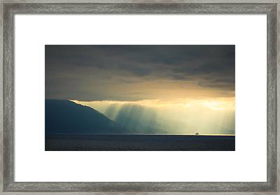 Alaska Inside Passage Under The Clouds Framed Print