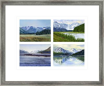 Alaska Landscape Poster 2 Framed Print by Sharon Freeman
