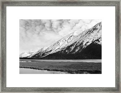 Alaska Mountains Framed Print by Ty Nichols