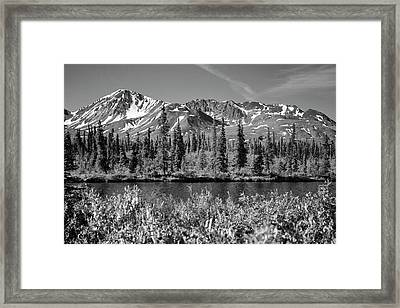 Alaska Mountains Framed Print by Zawhaus Photography