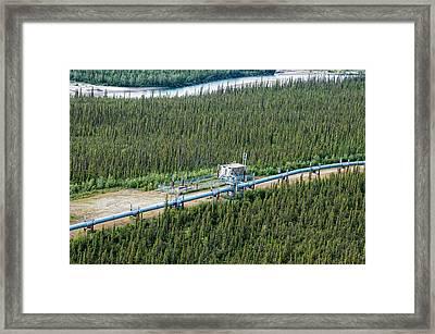 Alaska Pipeline - Koyukuk River Framed Print