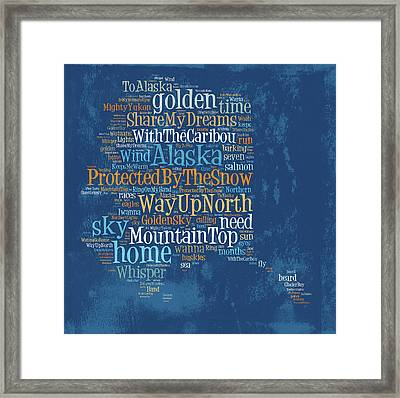 Alaska - Protected By The Snow Framed Print