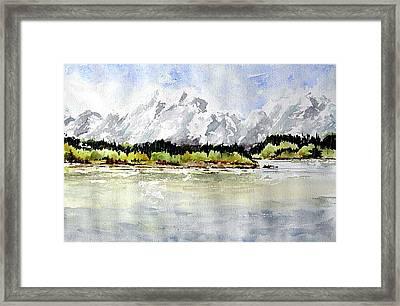 Alaska Solitude Framed Print by Wilfred McOstrich