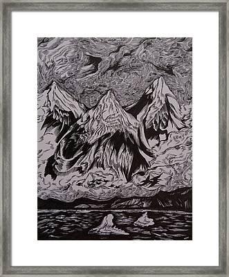 Alaska Song Framed Print by Anna  Duyunova