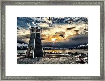 Framed Print featuring the photograph Alaska Starts Here Seward Alaska by Michael Rogers