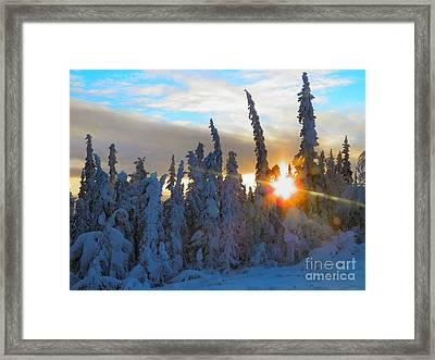 Alaska Winter High Noon Framed Print by Adam Owen