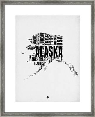 Alaska Word Cloud 2 Framed Print