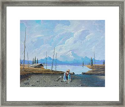 Framed Print featuring the painting Alaskan Atm by Richard Faulkner