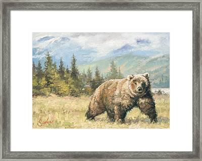 Alaskan Brownie Framed Print by Larry Seiler