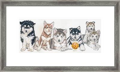 Alaskan Malamute Puppies Framed Print