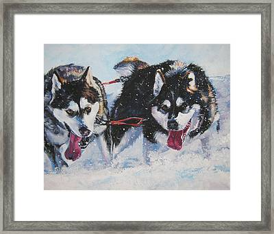 Alaskan Malamute Strong And Steady Framed Print by Lee Ann Shepard
