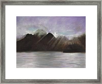 Alaskan Morning Framed Print by Merle Blair