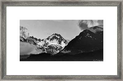 Alaskan Mountain Range Framed Print