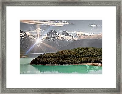 Alaskan Mountain Reflection Framed Print