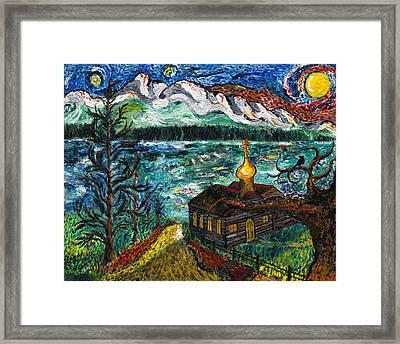 Alaskan Orthodox Church Framed Print by Arnold Bernstein