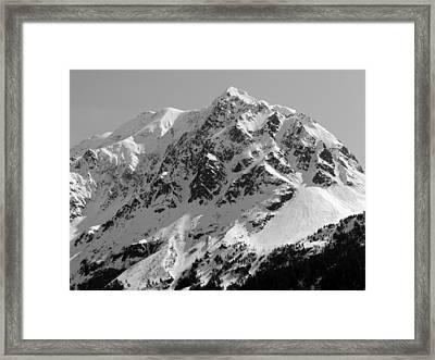 Alaskan Peak Framed Print by Ty Nichols