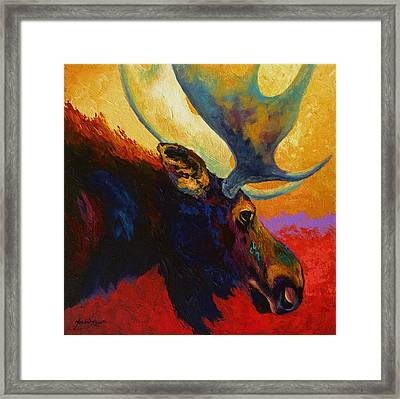 Alaskan Spirit - Moose Framed Print by Marion Rose