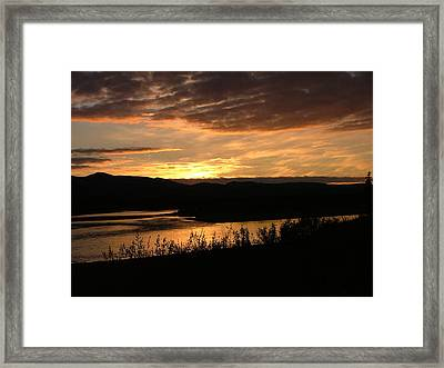 Alaskan Sunset Framed Print by Adam Owen