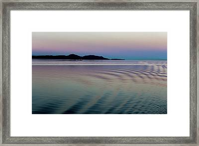 Alaskan Sunset At Sea Framed Print