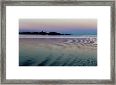 Alaskan Sunset At Sea Framed Print